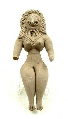Authentic Ancient Indus Valley Terracotta Female Fertility Idol Figurine - L374