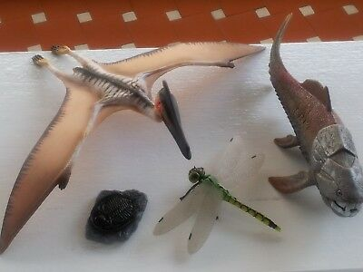 Only Figures :  Schleich 14575 16463 , Dragonfly ,  Safari Trilobite