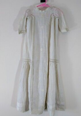 Antique Embroidered Ribbon Lace Baby Infant Christening Gown