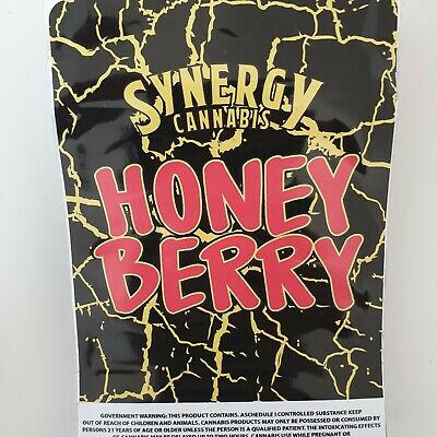 1x Synergy (Honey Berry) Mylar Bag Cali tin label CaliLabels