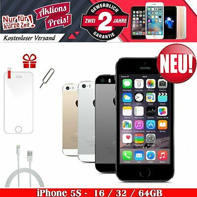 NEU Apple iphone 5S Smartphone Silber Spacegrau Gold 16GB 32GB 64GB Ohne Simlock