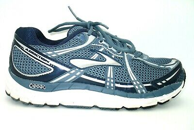 d0afc6326f8 Brooks Addiction 11 Blue Silver Running Training Athletic Shoes Mens 9D