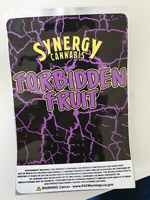 1x Synergy (Forbidden Fruit) Mylar Bag Cali tin label CaliLabels