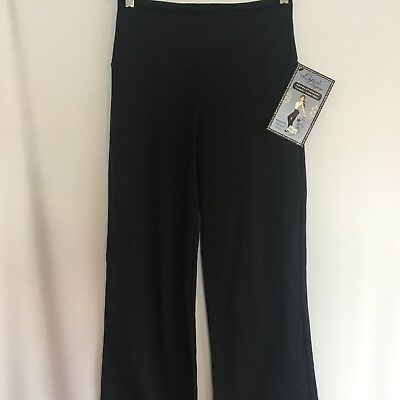 0b0a85ba9c509f Lysse Leggings Solid Black Wide Leg Pull On Pants Tummy Control Stretch  Smooth S