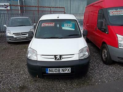Peugeot Partner 1.6HDi 90bhp 800LX in Whiteonly 97k good driver clean Ply lined
