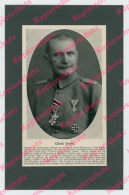 Oberst Karl Hoefer Ostfront Wolhynien Orden pour le merite Stochod Linewka 1916