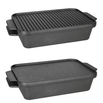 Ozark Trail 2 Piece Deep Pan Cast Iron Set with Dual Function Lid Cookware
