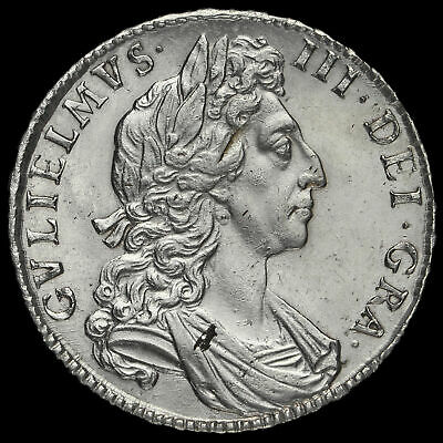 1698 William III Early Milled Silver Decimo Half Crown, G/EF