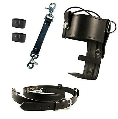 Boston Leather 5425-3 Anti-Sway Strap for Firefighter/'s Radio Strap Basketweave