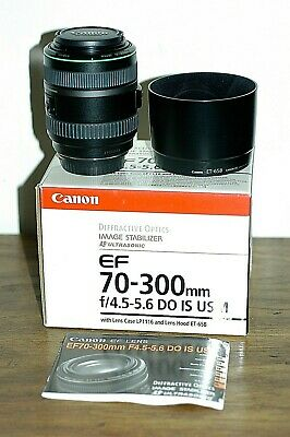 Canon EF 70-300mm f4.5-5.6 IS USM DO ULTRASONIC Lens MINT in Box, made in Japan