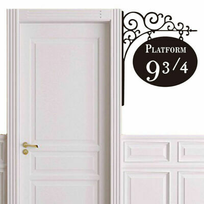 Harry Potter 9 3/4 Platform Vinyl Sticker Art Wall Decals Home Room Door Decor