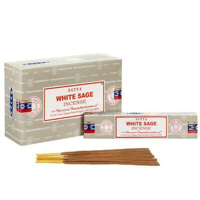 Genuine Satya Hand Made Incense Perfume Sticks White Sage 30 Minute Burn Time