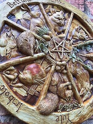 Animal Wheel of the year wall plaque, Pagan, wiccan, beltaine, imbolc.