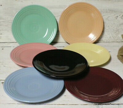 """Fiesta 9"""" Luncheon Plate Assorted Colors Some Retired Lead Free"""