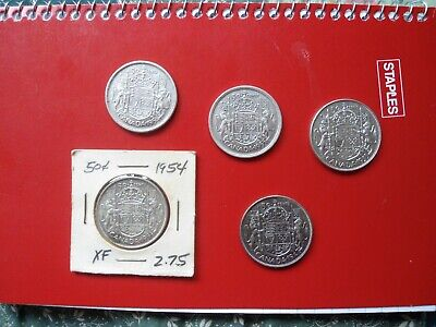 Lot of (98) Canadian Coins Some Silver (Dimes Nickels Quarters Halves )