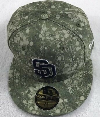 New Era 59Fifty San Diego SD Padres Fitted Hat Circle Camo Men/'s MLB Cap 7 5//8