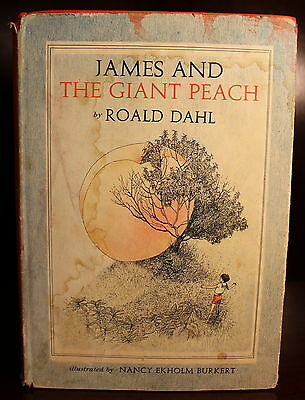 Roald Dahl James and the Giant Peach 1961 1st Edition 2nd State DJ Children's