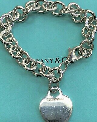 Tiffany & Co Sterling Silver Heart Tag Bracelet