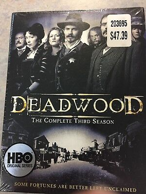 HBO Deadwood The Complete 3 rd Third Season DVD 2007 6-Disc Set New 12 Episodes