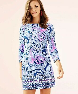 8cfc0b96061769 Lilly Pulitzer Large Sophie Dress Blue Grotto NWT UPF 50+ Royal purple  60Animals