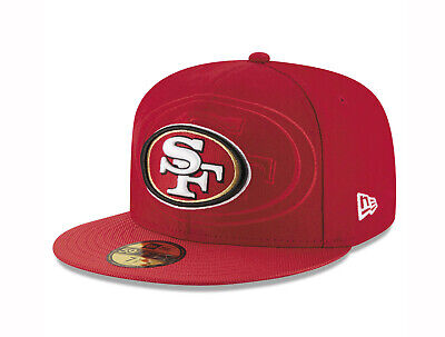 2ab11d77fdfac New Era 59Fifty Mens NFL Cap San Francisco 49ers On Field Sideline Hat Red  5950