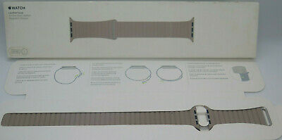 Apple Leather Loop for Apple Watch 42mm LARGE - Smoke Grey MNL12AM/A OPEN BOX