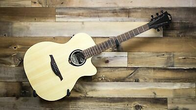 Lag T100ace-blk Acoustic Electric Auditorium Cutaway Guitar In Black Musical Instruments & Gear