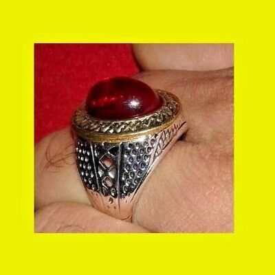 Medieval roman Beautiful silver Old wonderful Natural Agate red stone Ring
