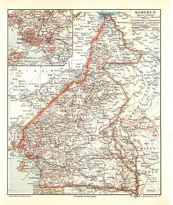 Antique map. AFRICA. CAMEROON. 1905
