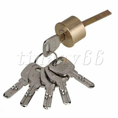 """Single Line-Shaped Rim Cylinder Door Lock for 4"""" Thick Doors with Keys"""