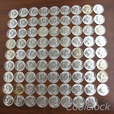 80 Pc Lot 1964 Silver Kennedy Half Dollar Coins Used Circulated Ungraded #Y653