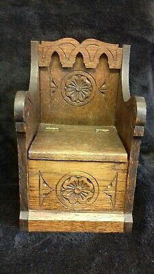 Original Antique Carved Wooden Music Jewellery Box