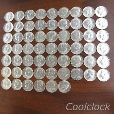60 Pc Lot 1964 Silver Kennedy Half Dollar Coins Used Circulated Ungraded #Y629