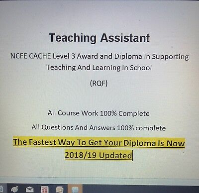 Teaching Assistant NCFE CACHE Level 3 Course Work And Answers 100% Completed