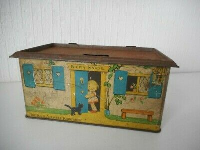 THE LUCIE ATTWELL KIDDIBICS BICKY HOUSE William Crawford & Sons Biscuit Tin