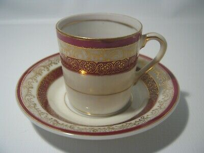 Vintage Occupied Japan Hand Painted Small Chocolate Cup & Saucer Fine China Set