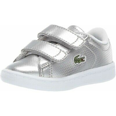 Lacoste Carnaby Evo 119 6 Silver Synthetic Infant Trainers Shoes