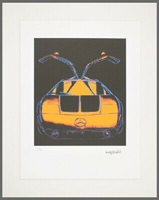"Andy Warhol Lithography ""Mercedes Race car C111 "" Limited Edition of 1000"