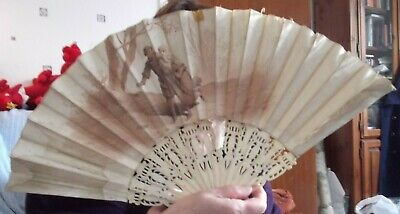Antique 19th Century Fan by Lauronce in need of renovation (G049)