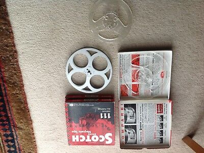 3 empty super /standard 8 mm film reels scotch with boxes