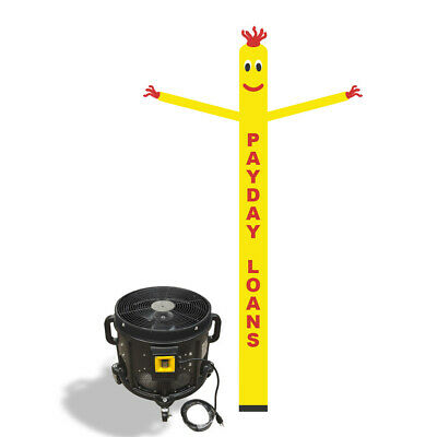 Payday Loan Air Inflatable Sky Puppet Great Dancer -20FT Yellow + 3/4 HP Blower