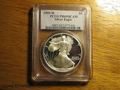1995-W $1 Proof Silver American Eagle PCGS PR69DCAM Key to the Series Rare Wow!