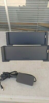 Microsoft Surface Docking Station Model 1664  (Lot of 2 )   w/ 2 Power Adapter