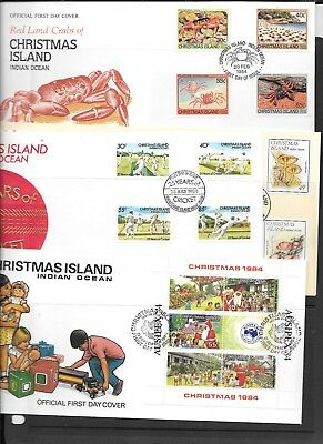 Stamps Christmas Is  19 First Day Covers 1984-87 Face $40 + --On Special Reduced