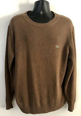 d5949aee0c0a8 Vintage Lacoste🐊 Sweater Cotton Wool Blend Crewneck Oatmeal Mens Size  6 large