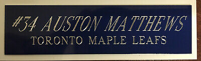 Auston Matthews Toronto Maple Leafs Memorabilia Engraved Plate Framed Jerseys...
