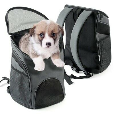 Pet Carrier Backpack for Small Dogs Cat Rabbit, Breathable Mesh Pup Pack Ou T4O1