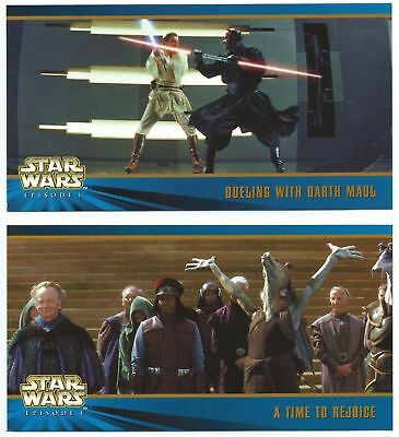 Star Wars Episode 1 Widevision 2 Oversized Promos Card Set OS1 & OS2 TOPPS 1999