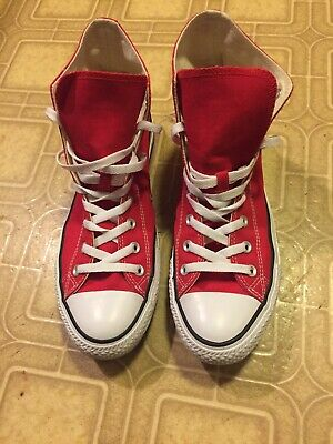 ced974c15af Converse Sneakers All Star Chuck Taylor Men Size 11.5 Red Hi Top Canvas  Shoes