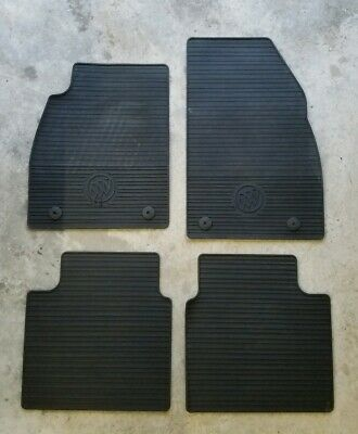 2013-2016 Buick LaCrosse GM Front /& Rear All Weather Floor Mats Black 23101701